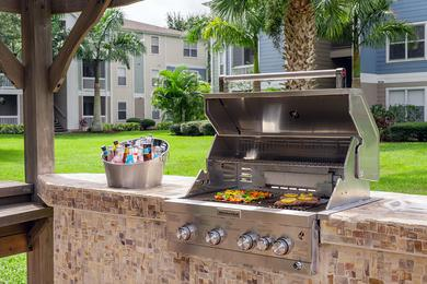 Outdoor Kitchen | Cookout with our gas grill at our outdoor kitchen.