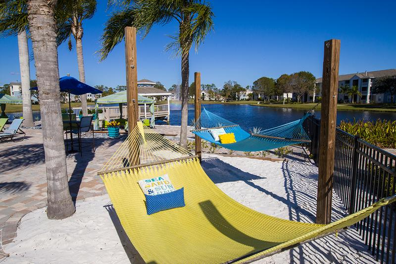 Hammock Garden | Soak in the sun at our hammock garden located next to the pool.