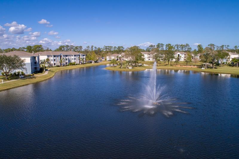 Lakeside Living | Beautiful lake views residents of Grand Oaks enjoy!