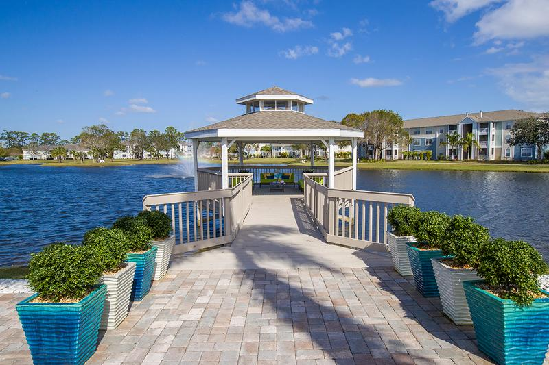 Gazebo Dock | Enjoy the beautiful lake views from our dock gazebo.