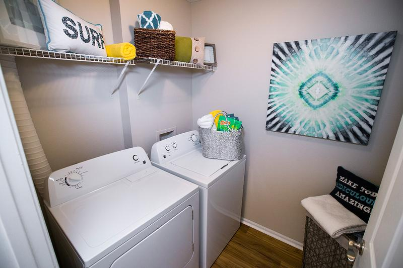 Laundry Room | Washer and dryer appliances are included in all apartment homes.