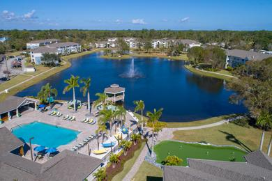 Aerial View of Community | At Grand Oaks, residents love spending time at our resort-style amenities.