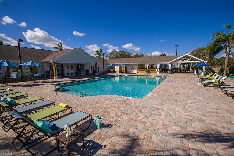 Expansive Sundeck | Lay out in one of the poolside loungers on our expansive sundeck.