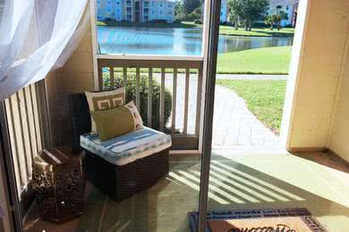 Screened-In Patio | All the apartment homes feature screened in patios with outside storage.