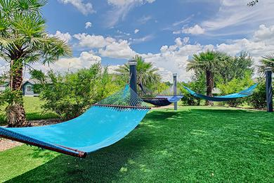 Hammock Garden | Lay out and soak in the sun from our hammock garden.