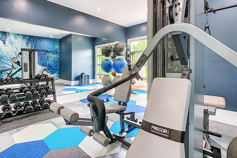Weight Training Equipment | Out fitness center features all the weight training equipment you'll need for a full body workout.