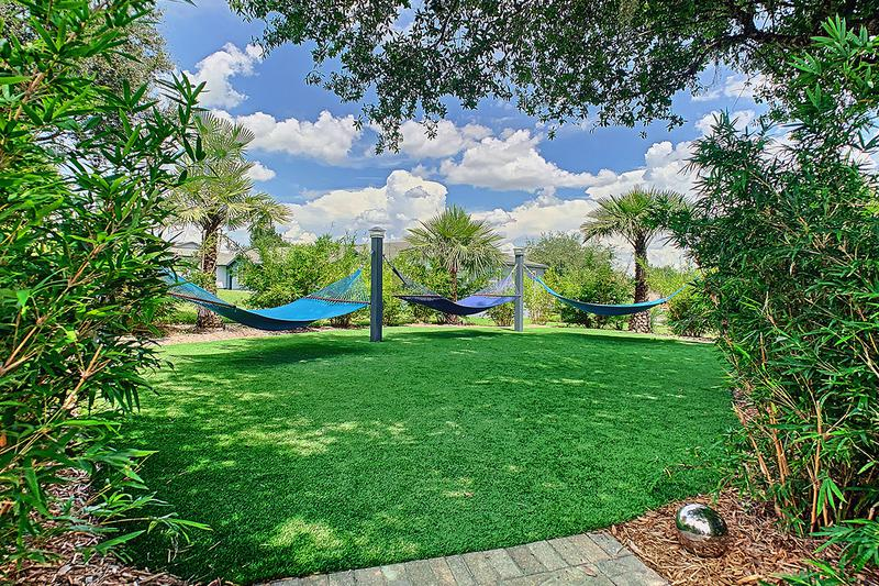 Hammock Garden | Lay out and soak in the sun on one of our hammocks in our hammock garden.