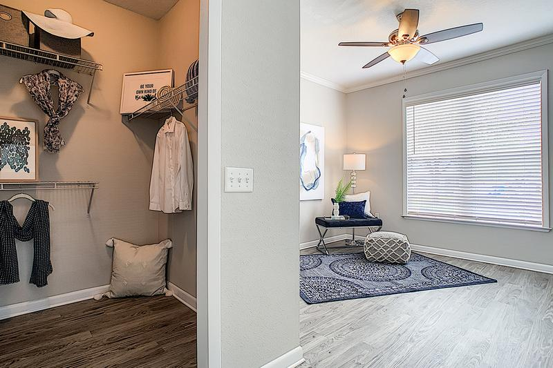 Walk-In Closets | Spacious bedrooms featuring walk-in closets with built-in organizers.