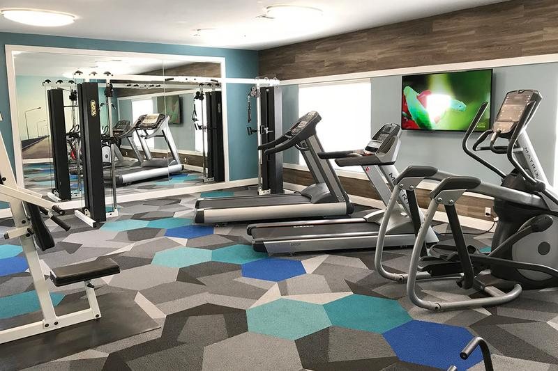 Fitness Center | Utilize our resident fitness center for a full body workout without the cost of a gym membership! (Updates Coming Soon)