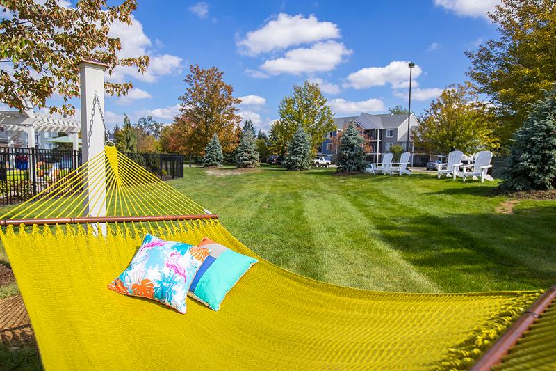 Hammock Garden | Lay out and soak in the sun on one of our hammocks coming soon!