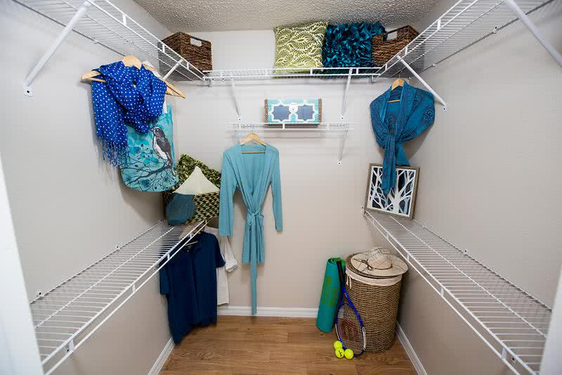 Spacious Walk-In Closets | Master bedrooms feature spacious walk-in closets with built-in organizers.