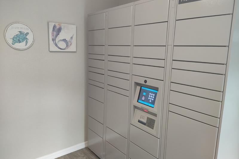 Amazon HUB Package Lockers | Receiving your packages just got easier with our Amazon HUB package lockers. Retrieve your packages safely at any time of day.