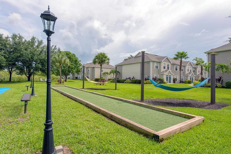Picnic Area | Enjoy our picnic area with shaded tables and lawn games.