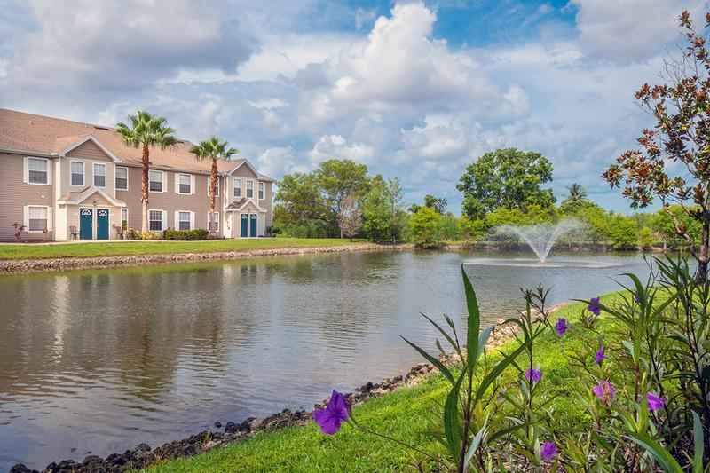 Lake Views | Enjoy breathtaking views of our lake with fountain.