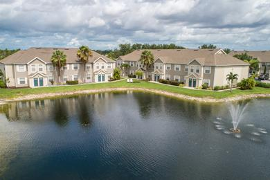 Aerial View of Community | Come home to Meadow Lakes and enjoy beautiful lakeside living in Naples.