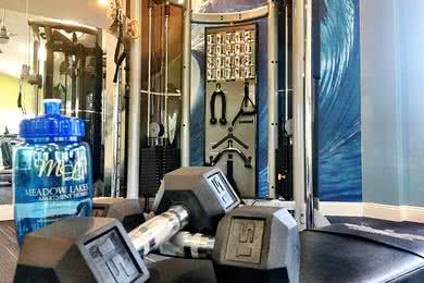 Fitness Center | Our resident fitness center is fully equipped with all the cardio and weight training equipment you need.