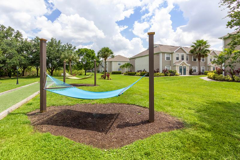 Hammock Garden | Soak in the sun on one of our hammocks at our hammock garden.