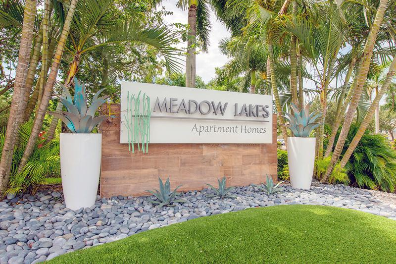 Front Entrance Sign | Welcome Home to Meadow Lakes!