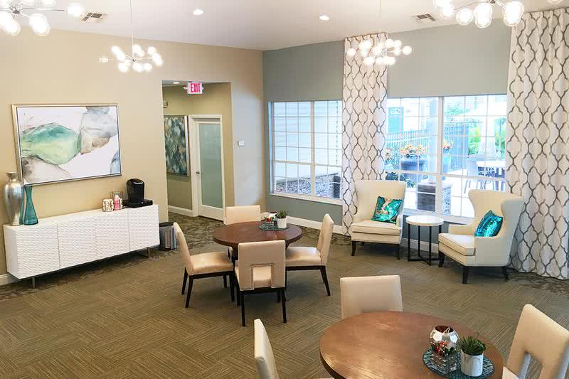Clubhouse Interior | Come on into the clubhouse for some complimentary coffee!