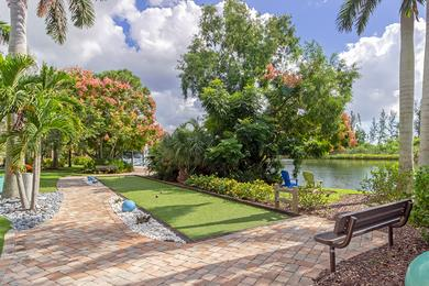Bocce Ball | Play a game of bocce ball located next to our hammock island.