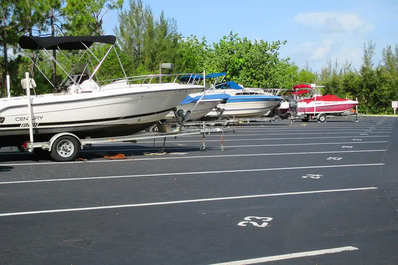 Boat Parking | Reserved boat parking is available. We also feature a boat ramp with access to the Gordon River.