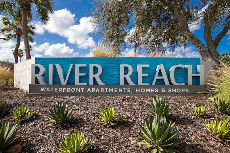 River Reach Shops & Restaurants | River Reach apartment homes is walking distance from the River Reach shops and restaurants making shopping convenient for our residents!