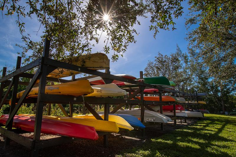 Kayak Storage | Kayak storage is available.