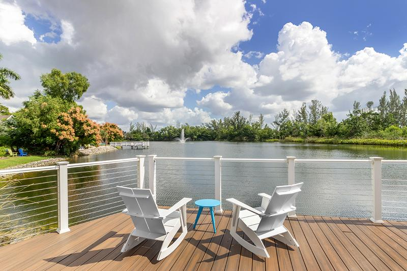 Lake with Fountain | Take in the picturesque lake views from around the Naples community.