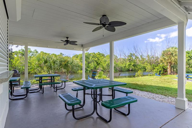 Picnic Pavilion | Enjoy a picnic while taking in the beautiful Florida scenery. Or, host your next party here!