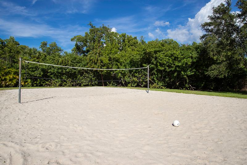 Sand Volleyball Court | Play a game with friends at our sand volleyball court.