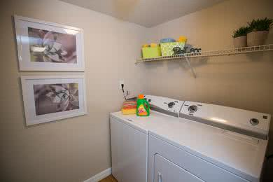 Washer and Dryer | Our apartment homes feature washer and dryer appliances for your convenience.