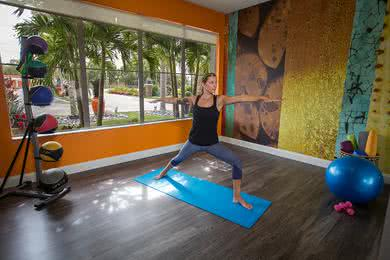 Yoga Studio | Our fitness center also has a yoga studio.