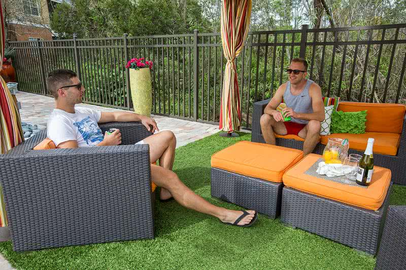 Poolside Cabanas | Enjoy our shady cabana with lounge area.