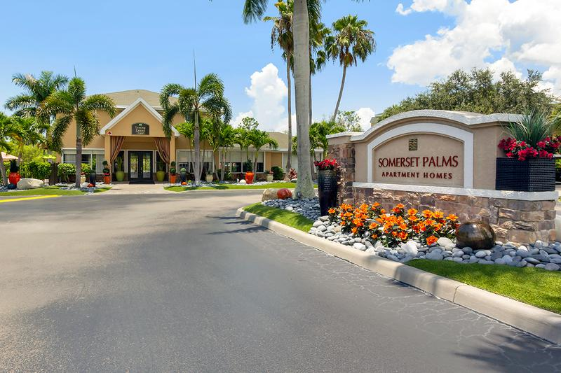 Entrance | Visit Somerset Palms today to learn more about our North Naples apartment