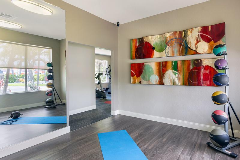 Yoga Center | Our Fitness Center also includes a yoga center.