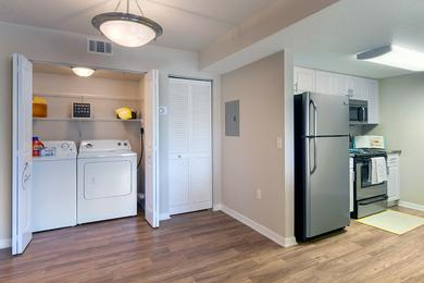 Laundry Room in Every Home | Washer and dryer appliances are included in all apartment homes.
