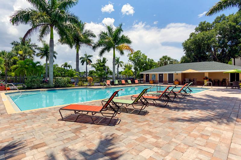Resort-Style Pool with Wi-Fi | Our resort-style pool offers residents free Wi-Fi, inviting cabanas and gas grills.