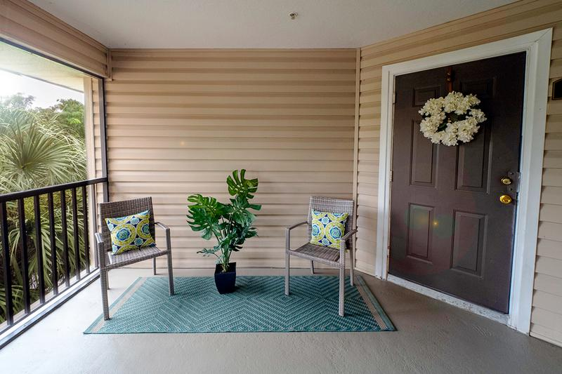 Screened Lanai | Your apartment home is complete with your very own screened-in lanai.