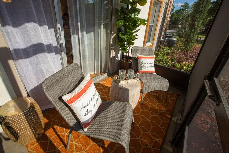 Private Screened Patio | Enjoy the outdoors from your very own private patio located right outside the living room.