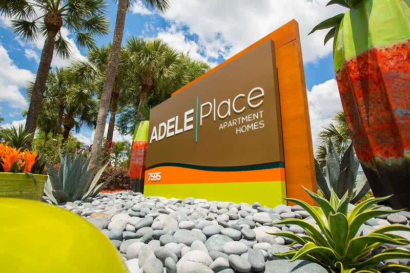 Sign | Welcome home to Adele Place Apartment Homes.