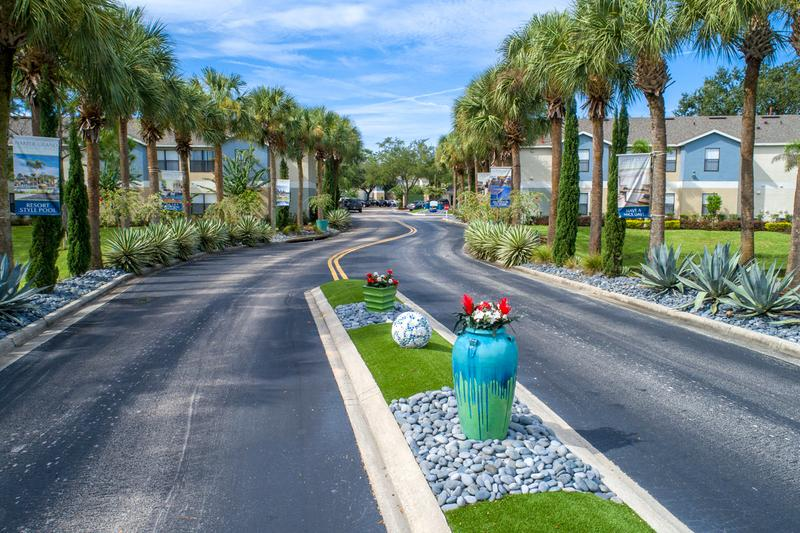 Lush Landscaping | You will be welcomed home with lush landscaping as you drive into the community.