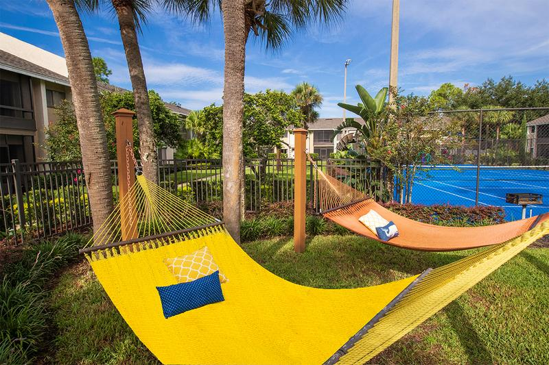 Hammock Garden | Lay out and soak in the sun in our new hammock garden, located next to the pool.