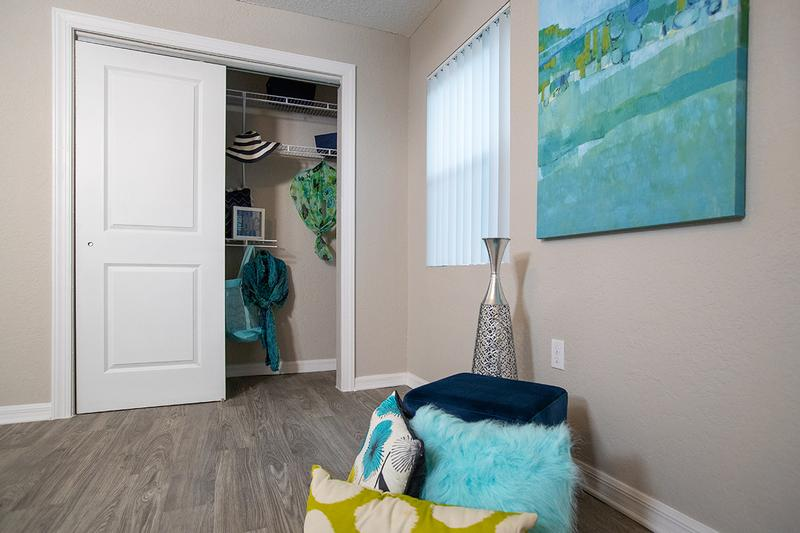 Closet Space | Bedrooms feature closets with built-in organizers for your convenience.