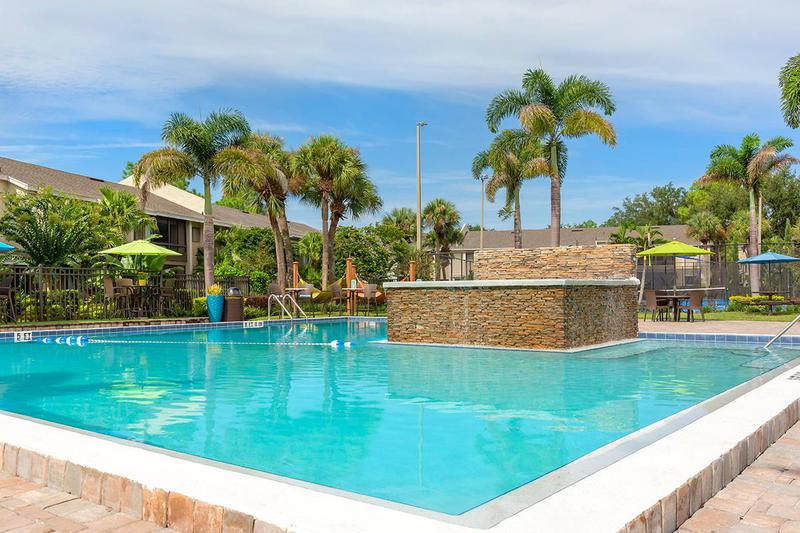 Resort-Style Pool | Take a dip in our resort-style pool with waterfall.