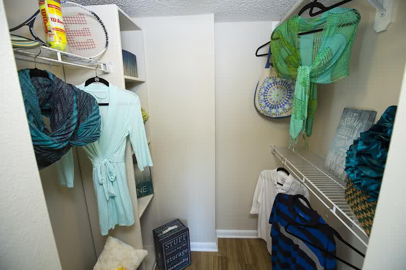 Walk-In Closet | Walk-in closet with built-in organizers are featured in our master bedrooms.