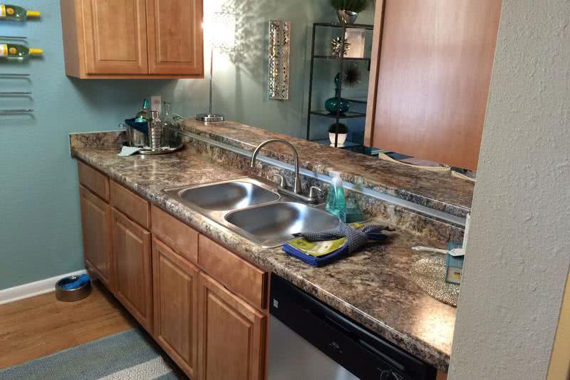 Kitchen | Your updated kitchen features updated countertops and cabinetry.