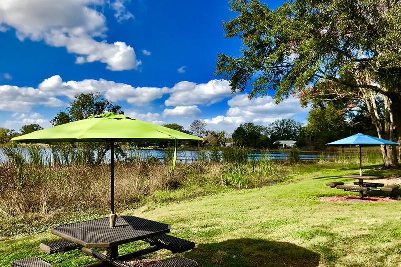 Lakeside Picnic Area | Enjoy a nice picnic watching the sun set on Lake Lockhart.