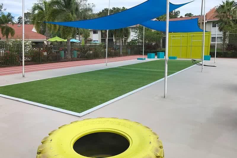 Sports Court | Don't like to workout indoors? Get a workout under the sun at our outdoor sports court.