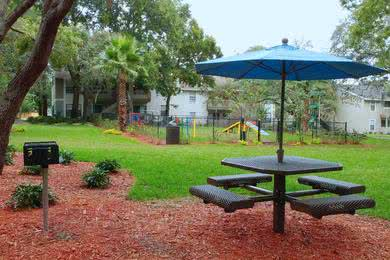 Picnic Area | Have a cookout at our picnic area featuring a charcoal grill.