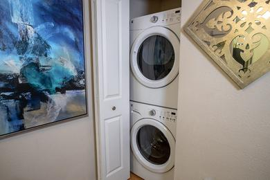 Washer & Dryer | All apartment homes feature a full size washer and dryer.